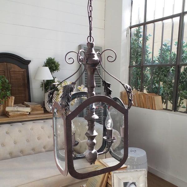 Lampa wisząca Orchidea Milano Antique Rusty, 2 światełka