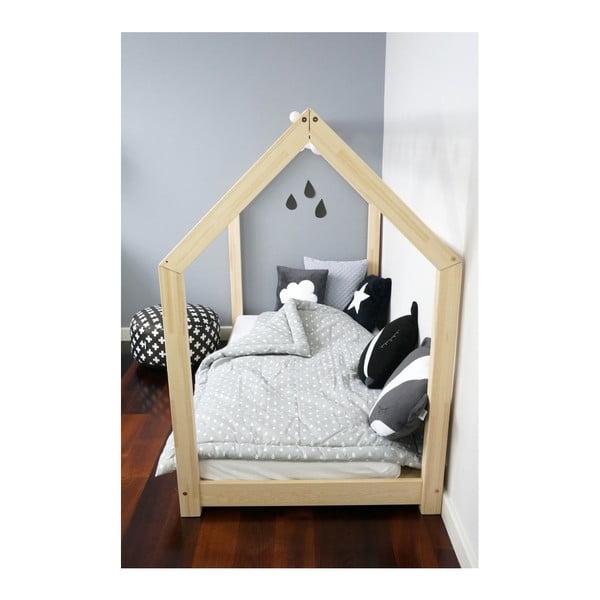 Łóżko dziecięce z wysokimi nóżkami Benlemi Tery, 80x160 cm, wysokość nóżek 20 cm