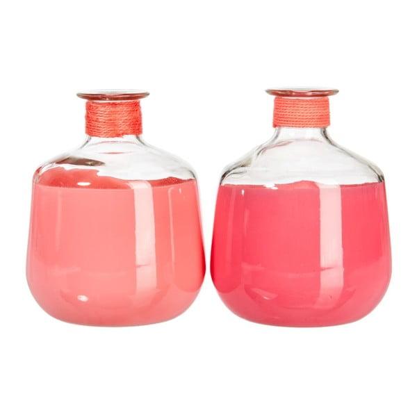 Komplet wazonów Glass Pink, 2 szt.