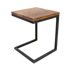 Czarny stolik z blatem z drewna mangowca LABEL51 Box