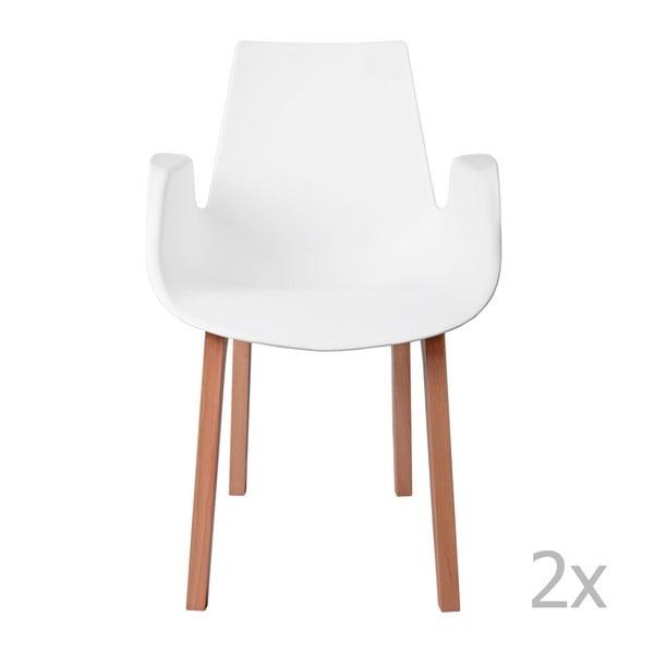 Zestaw 2 krzeseł D2 Mokka, białe