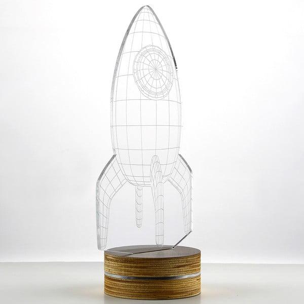Lampa 3D stołowa Rocket