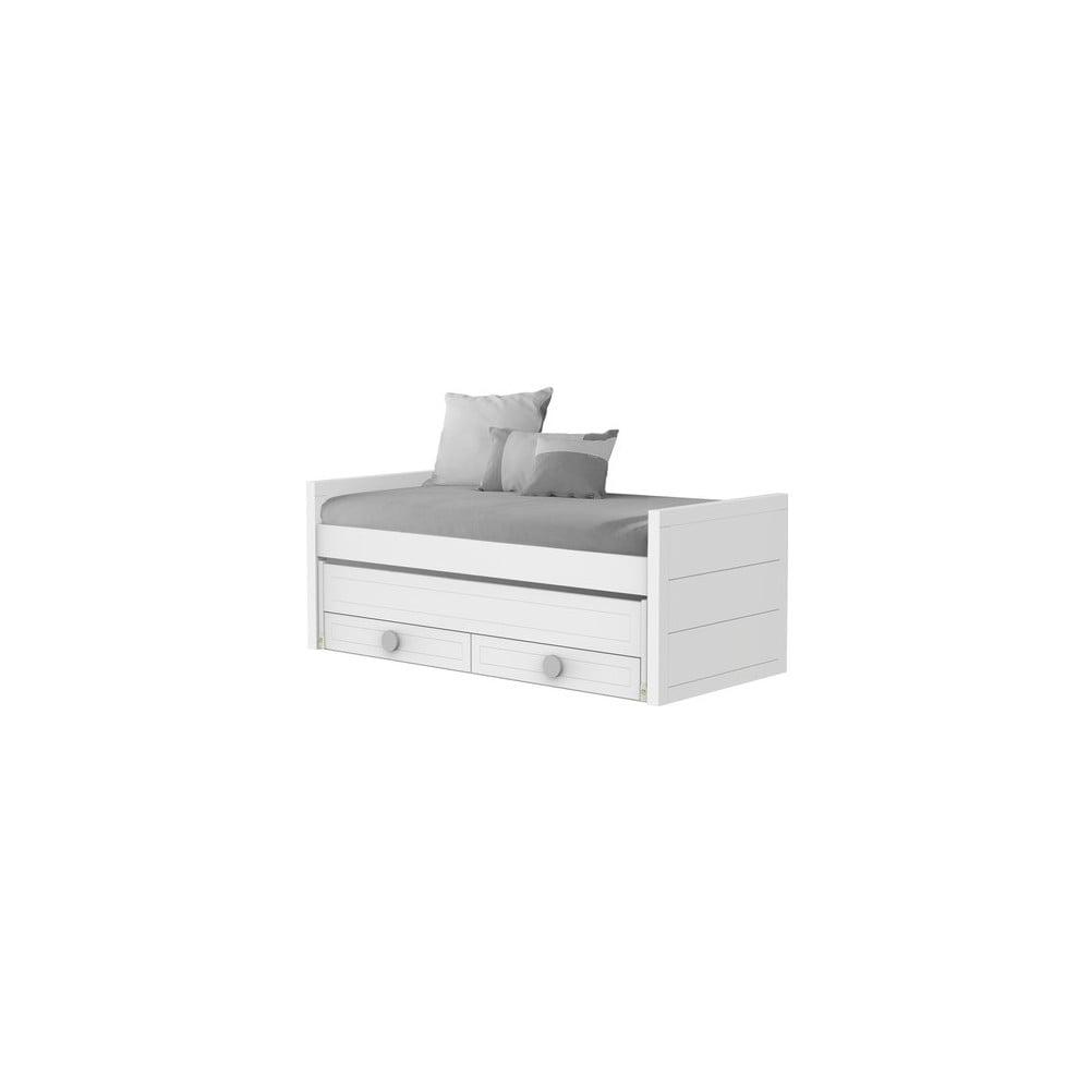 Białe łóżko Jednoosobowe Z Szufladą Trébol Mobiliario Sport 90x190200 Cm Bonami