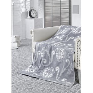 Koc  Floral Grey, 150x200 cm