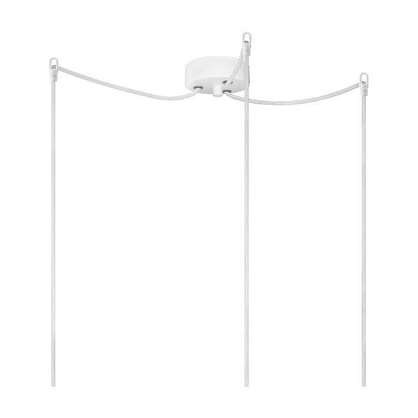Biało-miedziana potrójna lampa wisząca Bulb Attack Uno