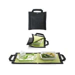 Czarna torba na pojemnik obiadowy Apetit