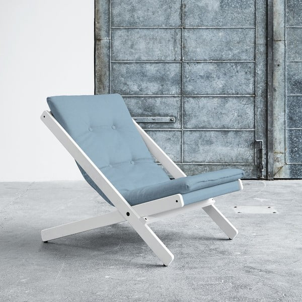 Fotel składany Karup Boogie White/Celeste