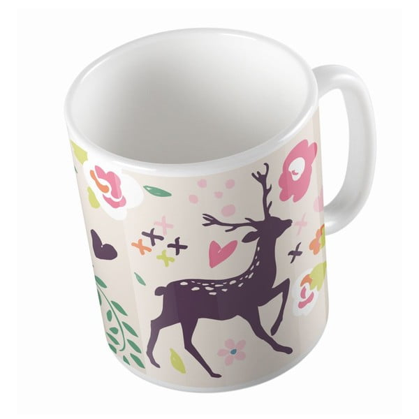 Ceramiczny kubek Deer And Bird, 330 ml