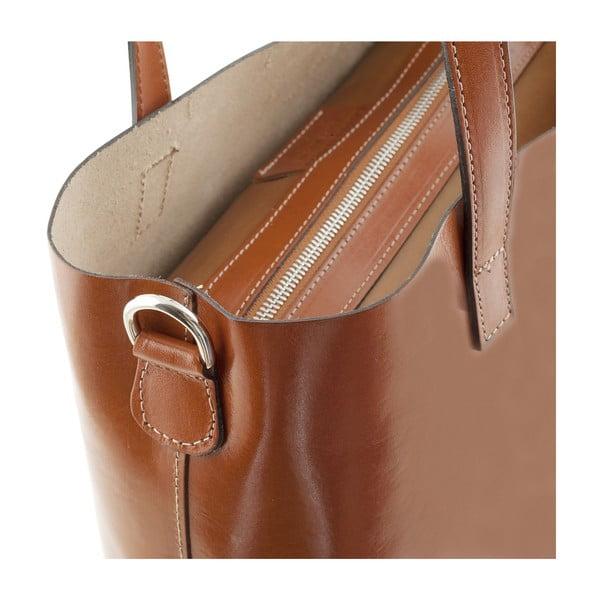 Skórzana torebka Italian Simplicity, miodowa