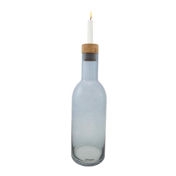 Wazon/świecznik Bottle 36,8 cm, niebieski