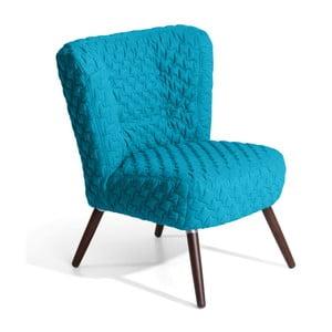 Niebieski fotel Max Winzer Neele Structured
