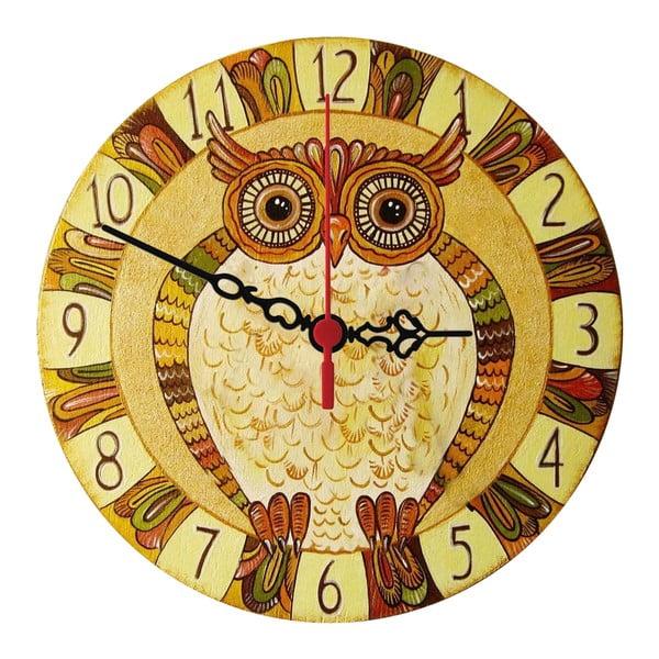 Zegar ścienny Natural Owl, 30 cm