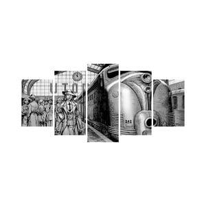 Wieloczęściowy obraz Black&White no. 3, 100x50 cm