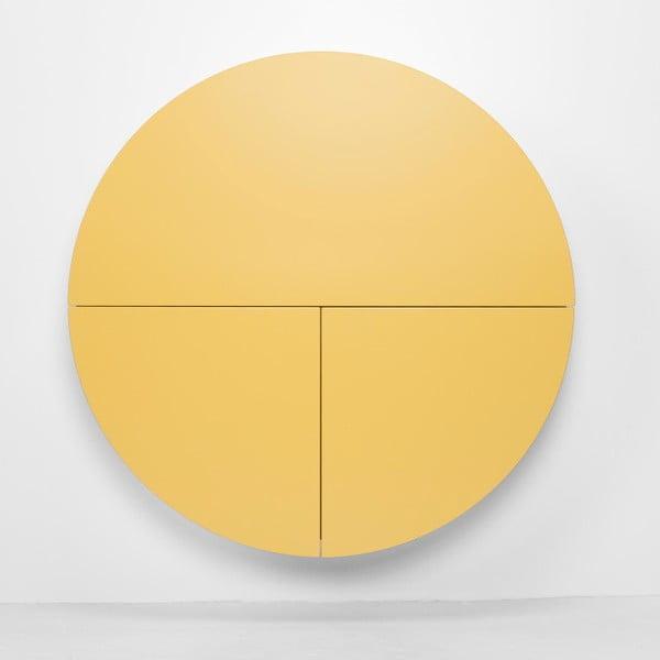Wielofunkcyjne biurko ścienne Pill Emko, biało-żółte