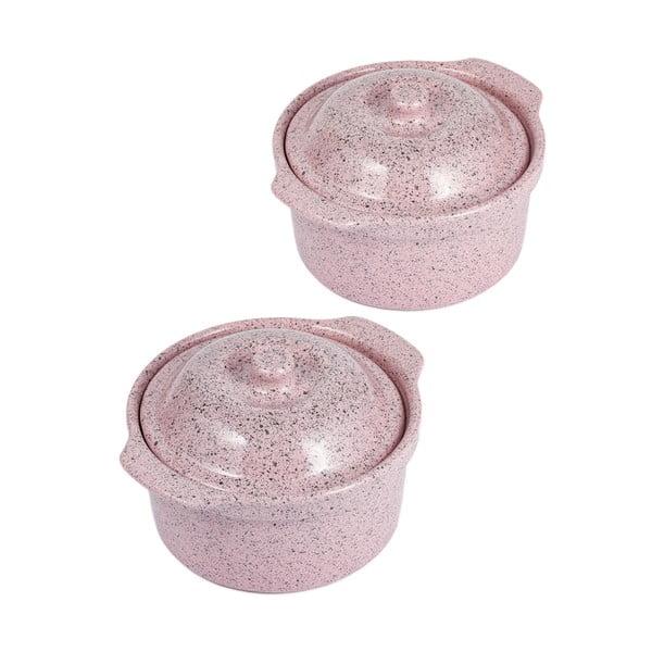 Zestaw 2 pojemników ceramicznych Sweets, 14x16 cm