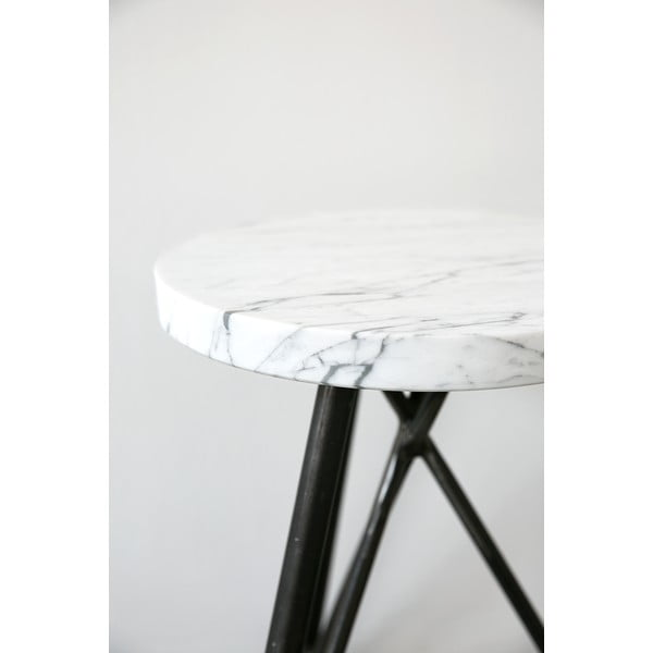 Taboret NUTSANDWOODS Marble, średnica 30 cm