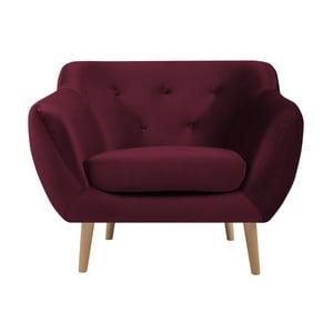 Bordowy fotel Mazzini Sofas Amelie
