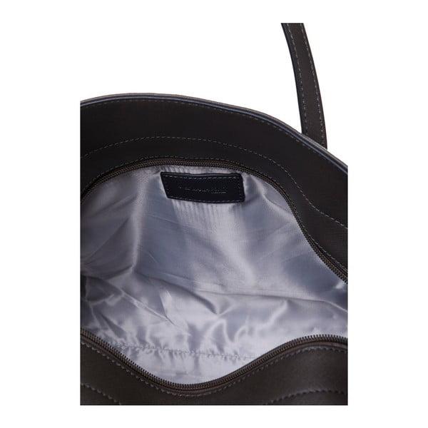 Skórzana torebka przez ramię Marta Ponti Zippy, beżowa/szara