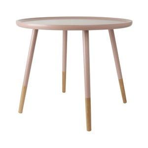 Różowy stolik drewniany Leitmotiv Graceful