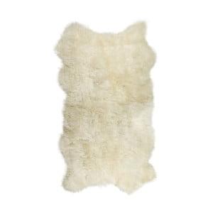 Biały dywan futrzany Lungo, 100x200cm