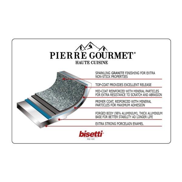 Patelnia z pokrywką i rękojeścią imitującą drewno Bisetti Pierre Gourmet, ø 28 cm
