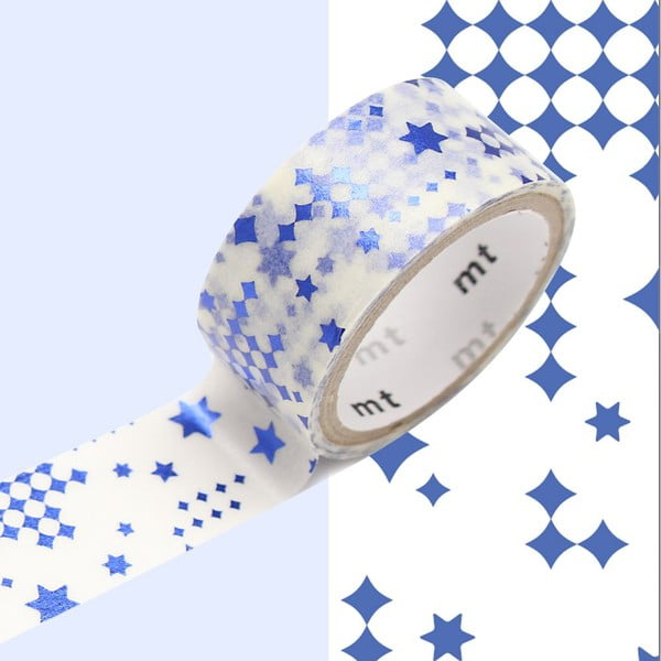 Taśma dekoracyjna washi Star Blue