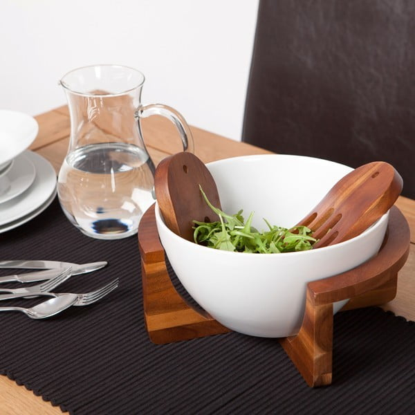 Miska na sałatkę ze stojakiem Bowl