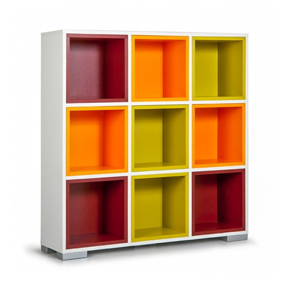 Biblioteczka Domino, kolorowe półki