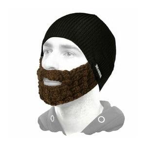 Czarna czapka Beardo z brązową brodą