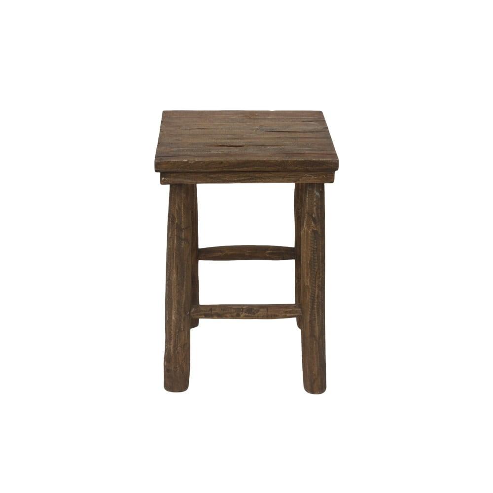 Taboret z drewna tekowego HSM Collection Pank