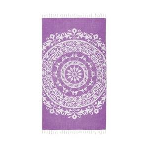 Fioletowy ręcznik hammam Kate Louise Madalena, 165x100 cm