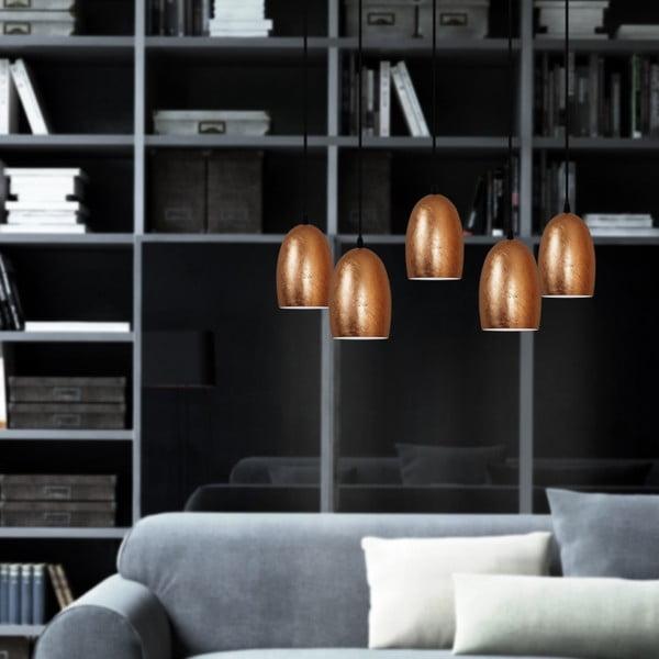 Lampa 5-częściowa UME Elementary, copper/transparent/white