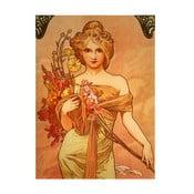 Reprodukcja obrazu Alfonsa Muchy Bouquet, 40x55 cm
