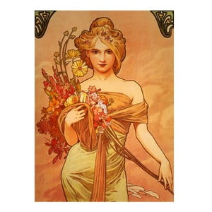 "Obraz ""Bouquet"" (Alfons Mucha), 80x110 cm"