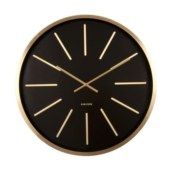 Zegar ścienny Present Time Maxiemus Brass Black