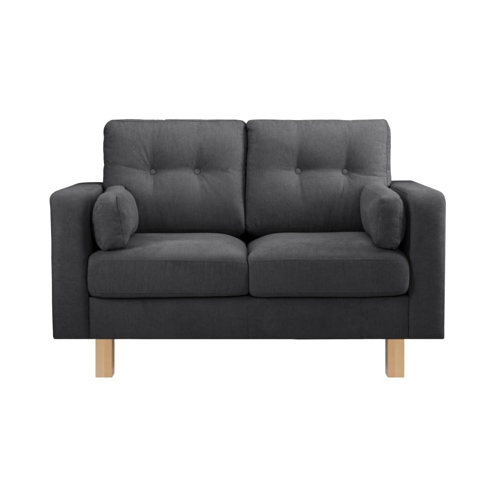 Antracytowa sofa 2-osobowa Stella Cadente Maison Lagoa