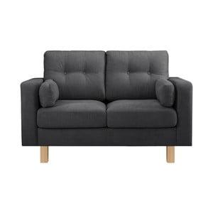 Antracytowa sofa dwuosobowa Stella Cadente Lagoa