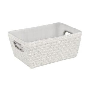 Biały koszyk Wenko Bamboo Chromo
