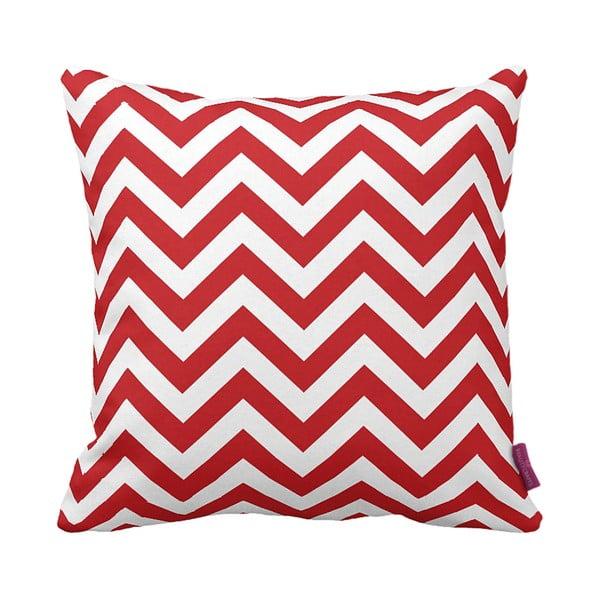 Czerwona poduszka Zig Zag, 43 x 43 cm