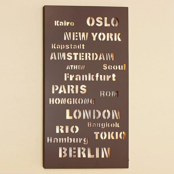 Obraz LED Cities, 40x90 cm