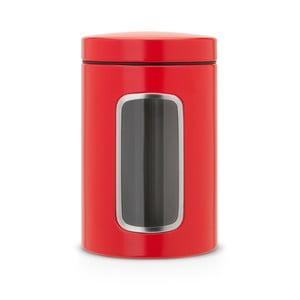 Czerwony pojemnik Brabantia Window, 1.4 l