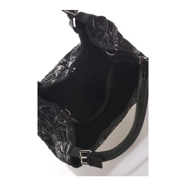Czarna torebka skórzana Massimo Castelli Eriberti