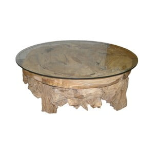 Stolik z drewna tekowego HSM Collection Tearo