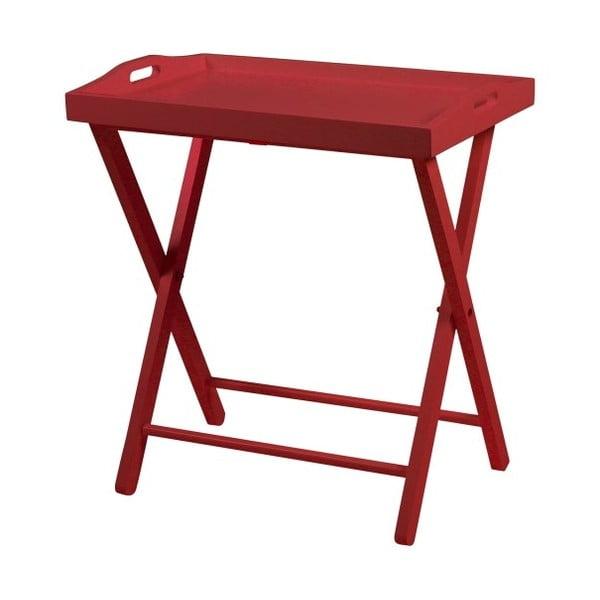 Czerwony stolik Actona Vassoio