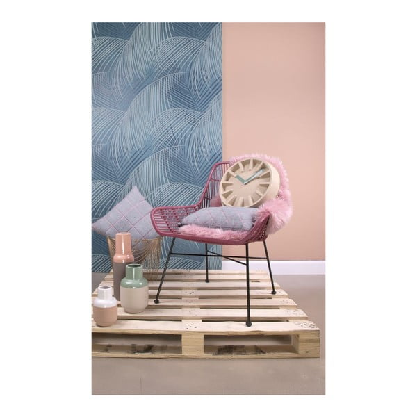 Poduszka Padded Grid Jeans Grey, 50x30 cm