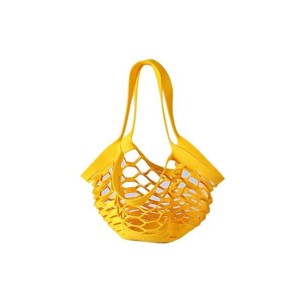 Filcowa torebka siatkowa, żółta