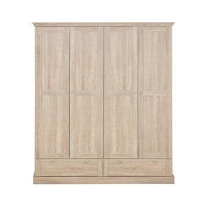 Szafa 4-drzwiowa z dębowym dekorem Støraa Bruce