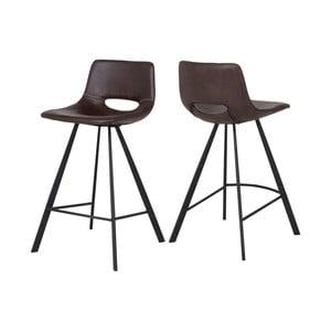 Czarne krzesło barowe Canett Coronas, wysokość87cm