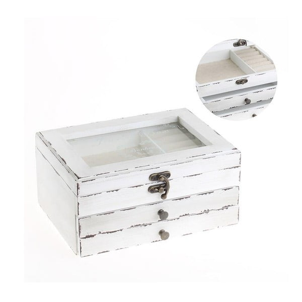 Pudełko na biżuterię Jewellery White