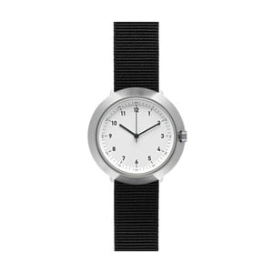Zegarek White Fuji Black Nylon, 43 mm